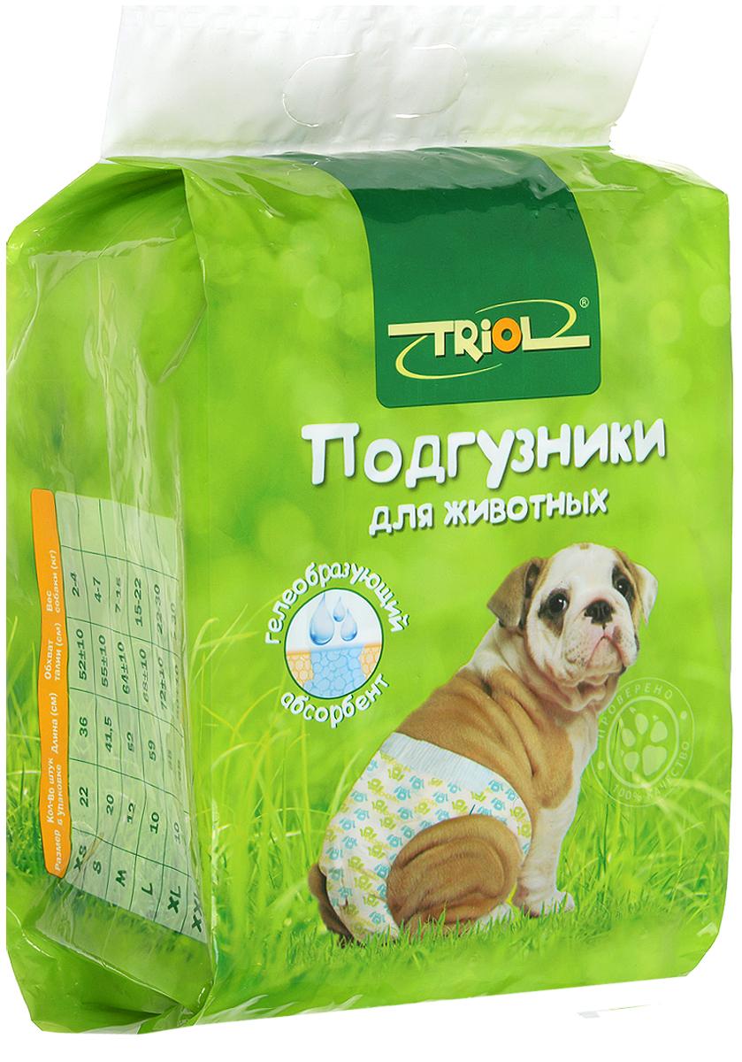 """Подгузники для животных """"Triol"""". Размер XL, 10 шт"""