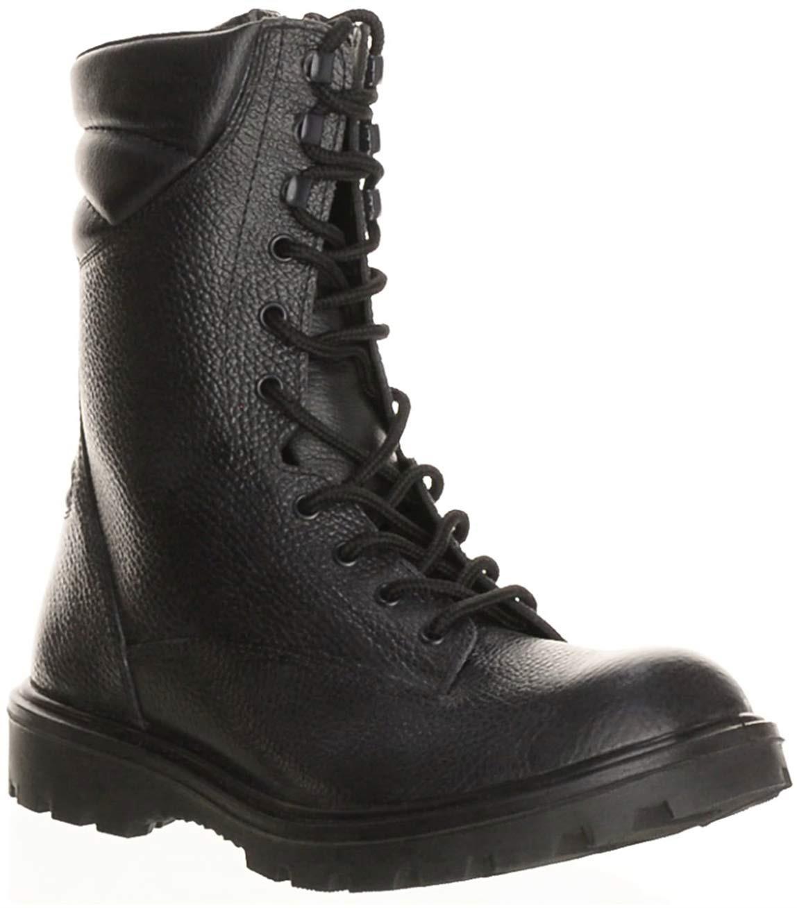 Берцы мужские DAVE MARSHALL Attack SB-8 AL, цвет: черный. БОТ5071ИМ. Размер 42БОТ5071ИМУдобные и практичные берцы ATTACK порадуют Вас своей технологичностью, относительно легким весом и износостойкостью. Эта модель сохранит ноги в тепле благодаря теплой подкладке, максимально снизит ударную нагрузку за счет PU/TPU в подошве, а также, при правильном своевременном уходе, будет радовать своего обладателя ни один сезон. Верх выполнен из натуральной юфтевой кожи, которая является одним из самых прочных материалов. После предварительной очистки и нескольких видов обработок Юфть остается такой же плотной и твердой, благодаря использованию натуральных жиров, такая кожа остается эластичной даже при минусовых температурах.Подкладка выполнена из искусственного меха, благодаря чему обеспечивается отличная циркуляция воздуха без «парникового эффекта».Подошва выполнена из полиуретана и термополиуретана (PU/TPU). Полиуретан (PU) благодаря легкому весу, отличной гибкости и великолепной амортизации, способствует снижению нагрузки при эксплуатации, а термополиуретан (TPU) обеспечивает высокую изноустойчивость, сопротивление деформации и обеспечивает отличное сцепление с поверхностью. Подошва крепится к верху обуви литьевым методом, который обеспечивает превосходную герметичность и прочность крепления.Произведены с учетом ТР ТС 019/2011, ГОСТ 12.4.137-2001, ГОСТ 12.4.187-97 Рекомендуем!