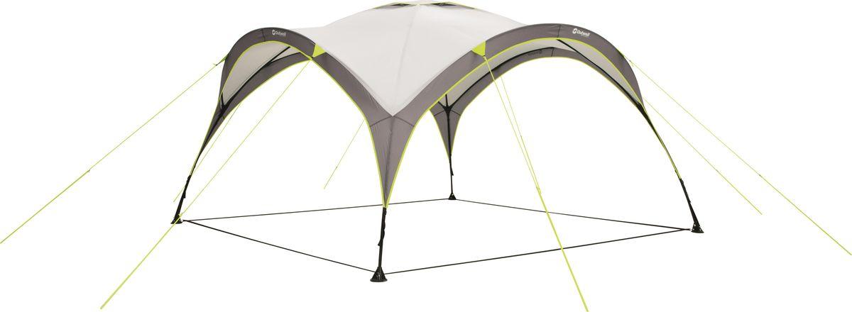 Шатер Outwell, цвет: серый. 110533110533Простой в транспортировке и установке шатер подходит для пляжа, сада и аутдора. Каркас растягивается как гармошка - для установки надо просто растянуть стойки в четыре стороны. Ткань Outtex 3000 надежно защитит от солнца и дождя.