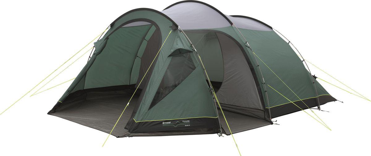 Палатка Outwell, 5-местная, цвет: серый, зеленый. 110565 палатка outwell 3 местная цвет серый зеленый 110563