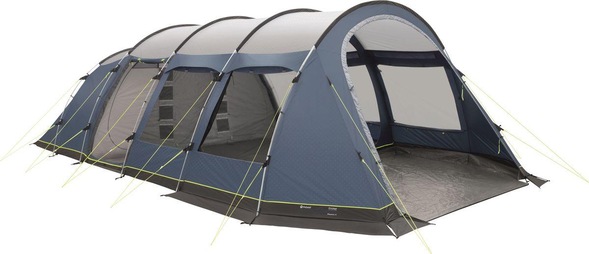 Палатка Outwell, 6-местная, цвет: серый, синий. 110638 палатка outwell 3 местная цвет серый зеленый 110563