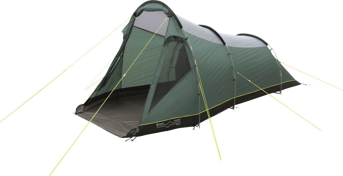 Палатка Outwell, 3-местная, цвет: зеленый, серый. 110767 палатка outwell 4 местная цвет зеленый серый 110768