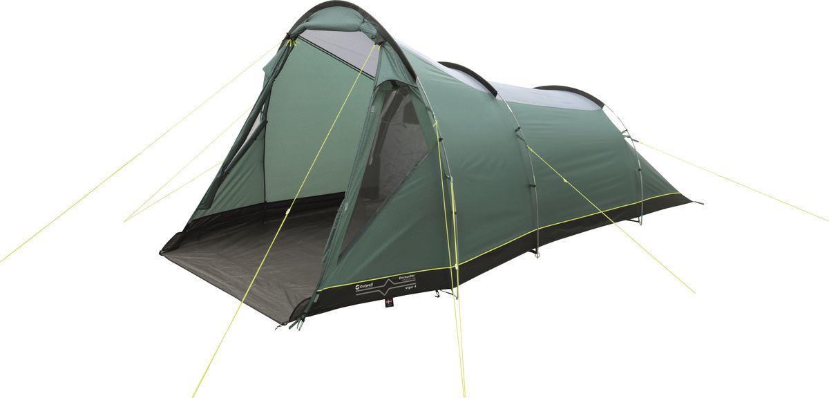 Палатка Outwell, 4-местная, цвет: зеленый, серый. 110768 палатка outwell 4 местная цвет зеленый серый 110768