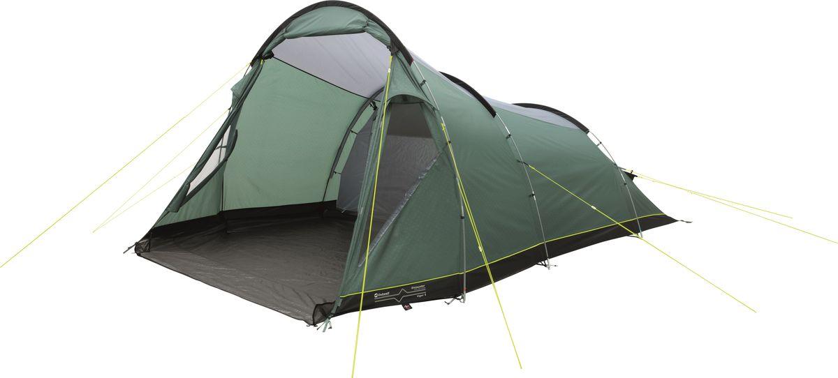 Палатка Outwell, 5-местная, цвет: зеленый, серый. 110769 палатка outwell 4 местная цвет зеленый серый 110768