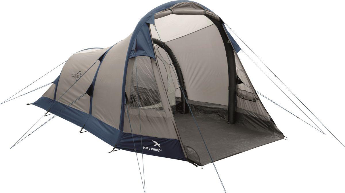 Палатка Easy Camp, 3-местная, цвет: бежевый, синий. 120251 цена