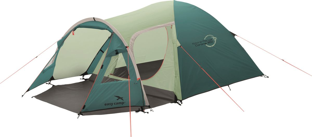 Палатка Easy Camp, 3-местная, цвет: зеленый, серый. 120277 цена