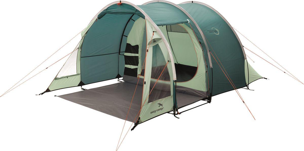 Палатка Easy Camp, 3-местная, цвет: зеленый, серый. 120288