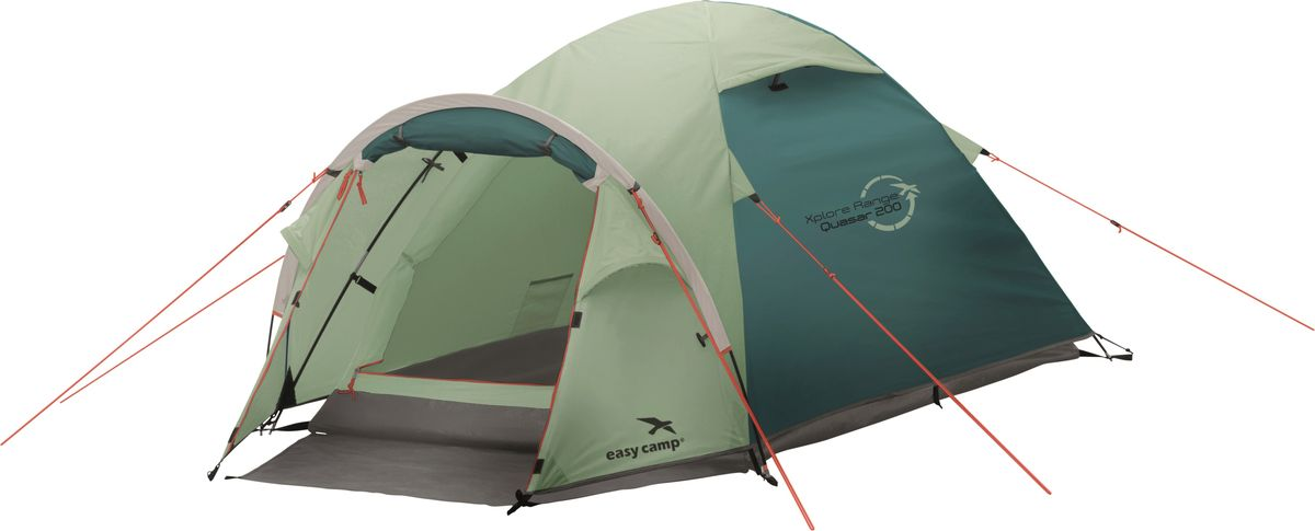 Палатка Easy Camp, 2-местная, цвет: зеленый, серый. 120292
