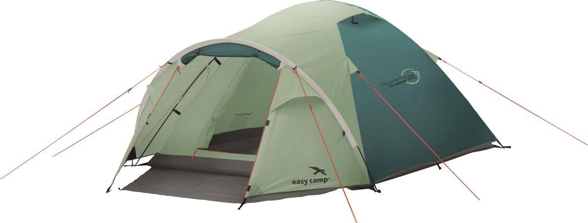 Палатка Easy Camp, 3-местная, цвет: зеленый, серый. 120293