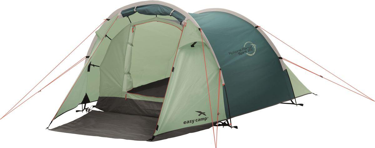Палатка Easy Camp, 2-местная, цвет: зеленый, серый. 120294