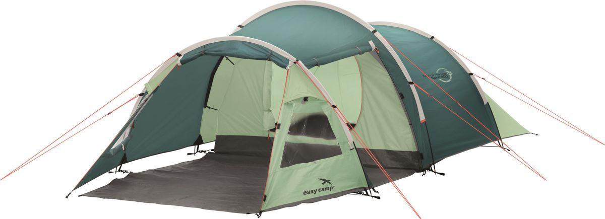 Палатка Easy Camp, 3-местная, цвет: зеленый, серый. 120295