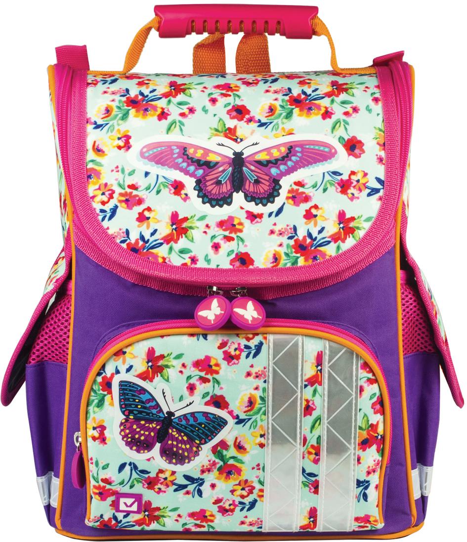 Brauberg Ранец школьный Бабочка в цветах 226907