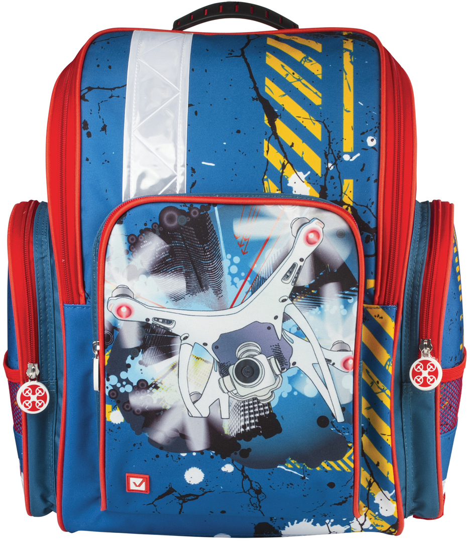 Brauberg Ранец школьный Коптер 226919 школьные рюкзаки brauberg ранец коптер 17 л