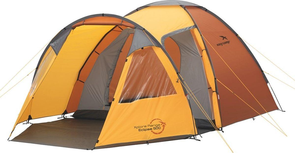 Палатка Easy Camp, 5-местная, цвет: оранжевый. 120187 цена