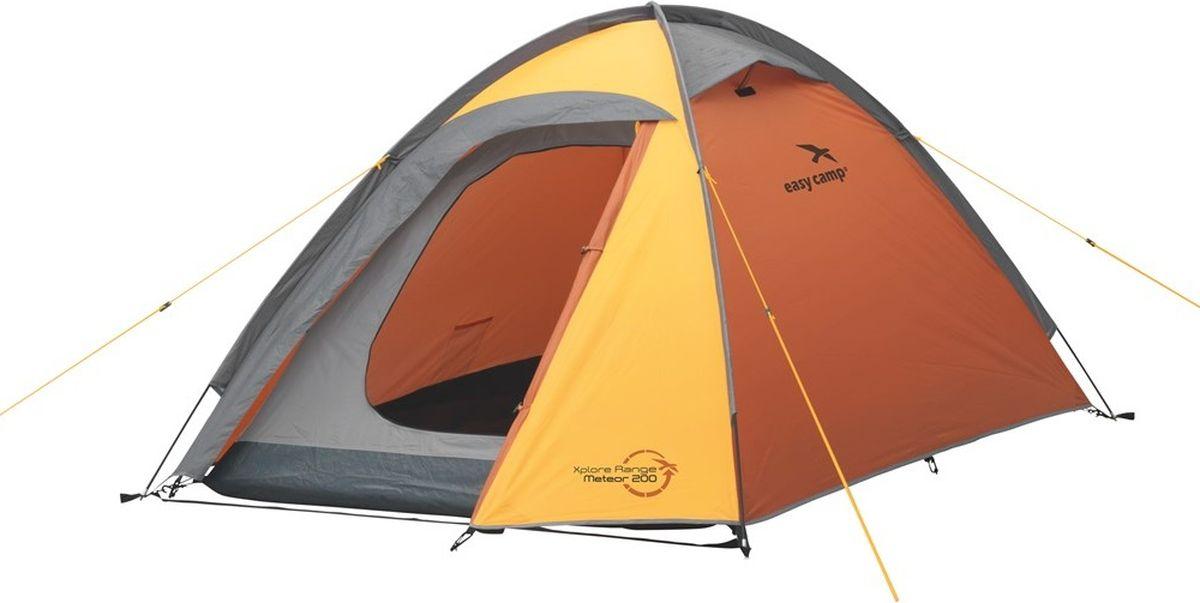 Палатка Easy Camp, 2-местная, цвет: оранжевый. 120190