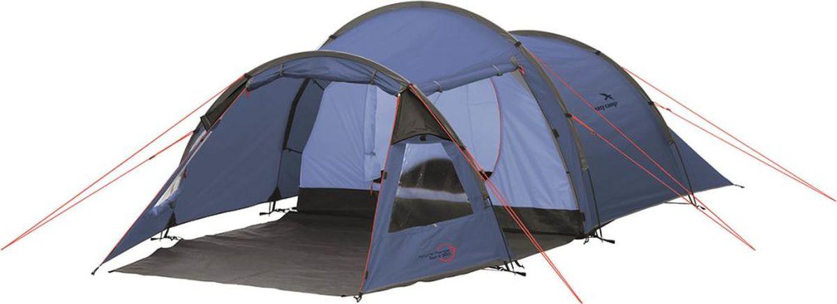 Палатка Easy Camp, 3-местная, цвет: синий. 120242