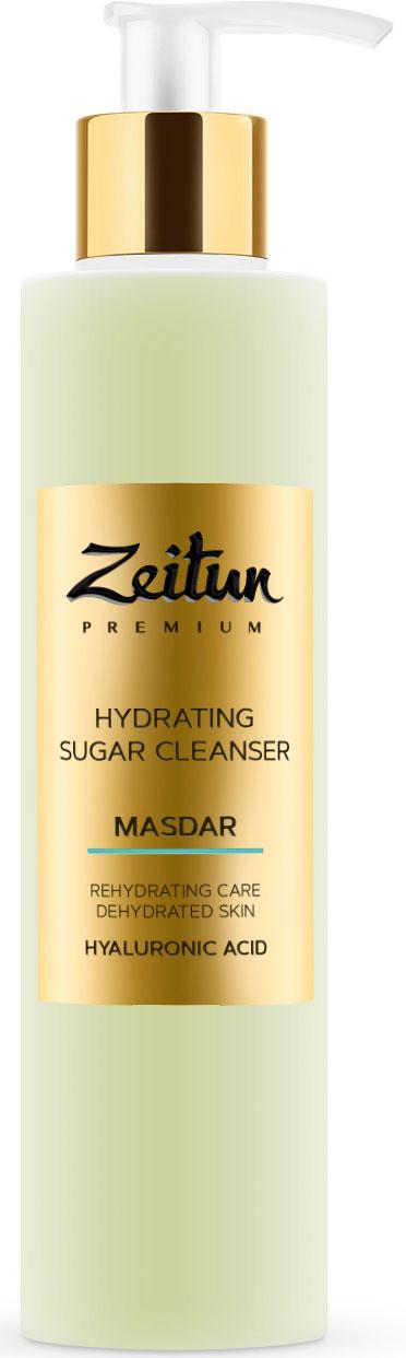 Сахарный увлажняющий гель для умывания MASDAR с гиалуроновой кислотой, 200 мл Зейтун
