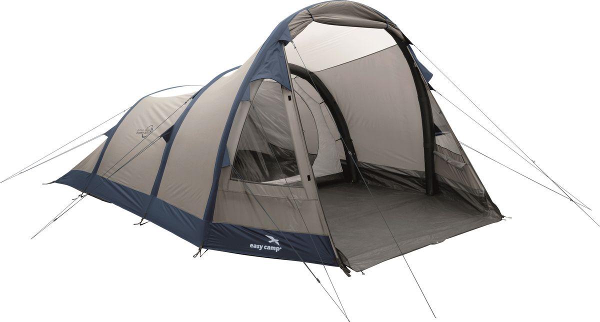 Палатка Easy Camp, 5-местная, цвет: бежевый, синий. 120252