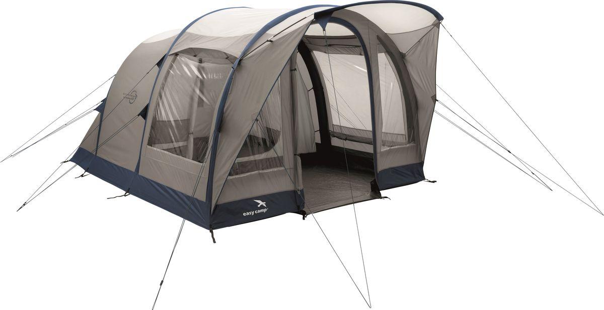 Палатка Easy Camp, 3-местная, цвет: бежевый, синий. 120253