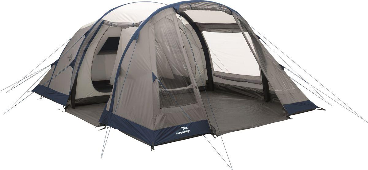 Палатка Easy Camp, 6-местная, цвет: бежевый, синий. 120256