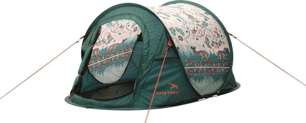 Палатка Easy Camp, 2-местная, цвет: зеленый. 120257 цена