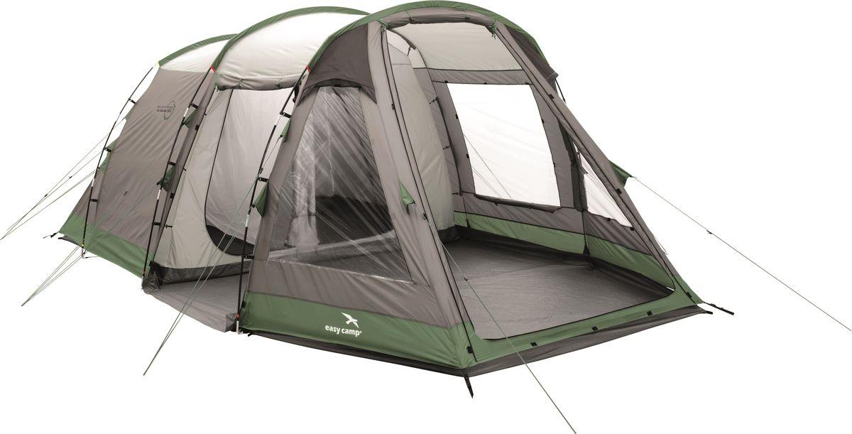 Палатка Easy Camp, 5-местная, цвет: серый, зеленый. 120266