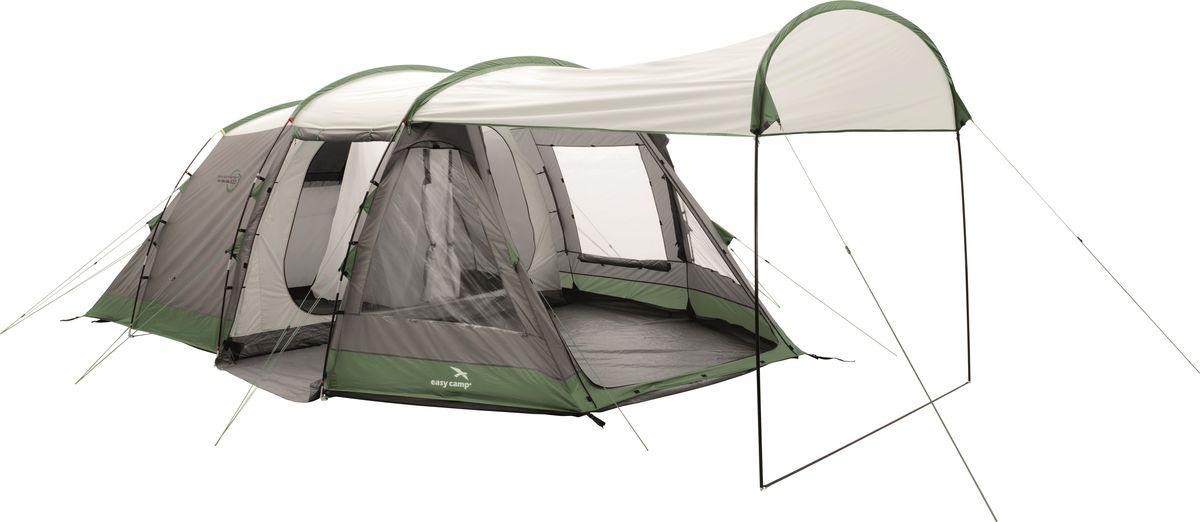 Палатка Easy Camp, 6-местная, цвет: серый, зеленый. 120267