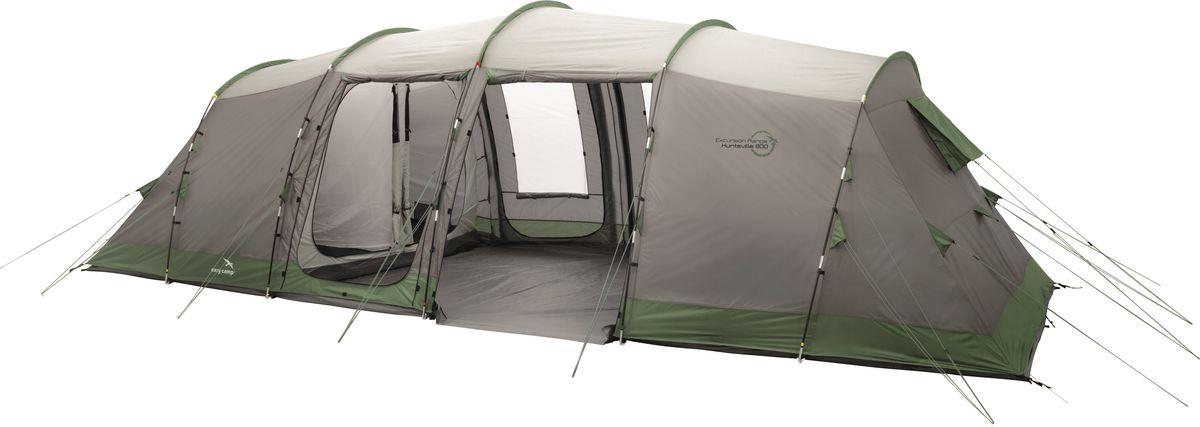 Палатка Easy Camp, 8-местная, цвет: серый, зеленый. 120268