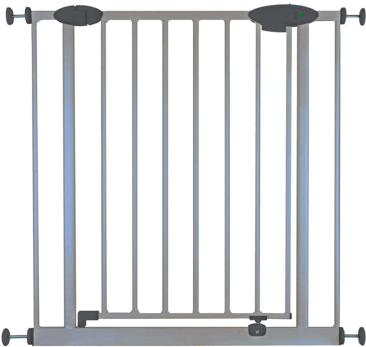 Nordlinger Ворота безопасности Sofia 73-81 см630051Защитный металлический барьер-калитка для дверного или лестничного проема (71-83 cm). Защитный металлический барьер-калитка предназначены для крепления в распор в дверном проеме или лестничном проеме. Установка осуществляется без сверления стены или дверного косяка. Особенности : Ворота изготовлены из металла и АВС пластика; Высота ворот 76 см. • Ширина двери (калитки) 51 см. • Ворота (без дополнительных секций) крепятся в дверной прем шириной 71-83 см. • Замок имеет защиту от случайного открытия его ребенком • При открытии ворот на угол более 90° (до 100°), дверь сохраняет свое положение. • Дверка открываются в обоих направлениях. • Удобный механизм защелкивания. • Для установки не требуется сверление; • Возможность перемещения ворот в дверной проем другой двери дома. При установке в соответствии с инструкциями между двумя прочными с точки зрения конструкции поверхностями, данное изделие отвечает требованиям стандарта EN 1930:2012. Для установки рекомендуется использовать фиксаторы для крепления к стене. (см. инструкцию по установке ворот). Размеры коробки 74 х 5 х 82 см. Вес с коробкой : 5.2 кг. Вес без коробки 4,5 кг. Страна производства Китай. Рекомендуем!