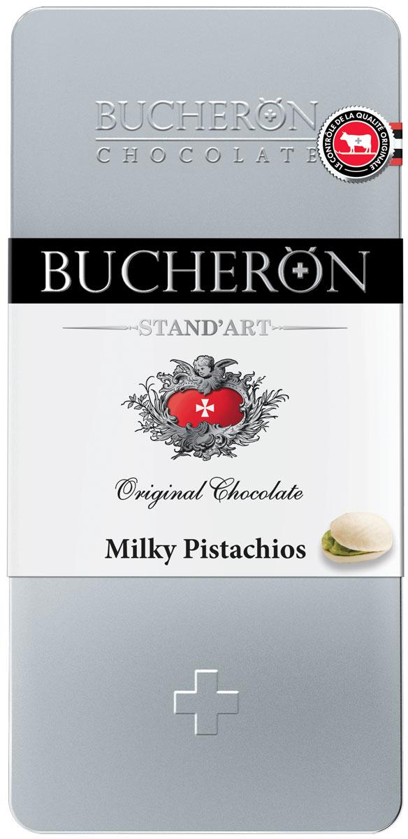 Bucheron Молочный шоколад с фисташками, 100 г сhokocat кот менеджер молочный шоколад 50 г