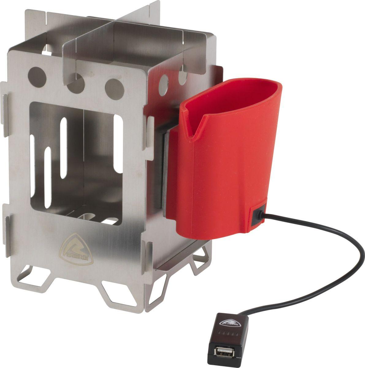 """Печка-щепочница """"Robens"""", складная, с зарядным устройством, 12,5 х 12,5 x 19,5 см. 690221"""