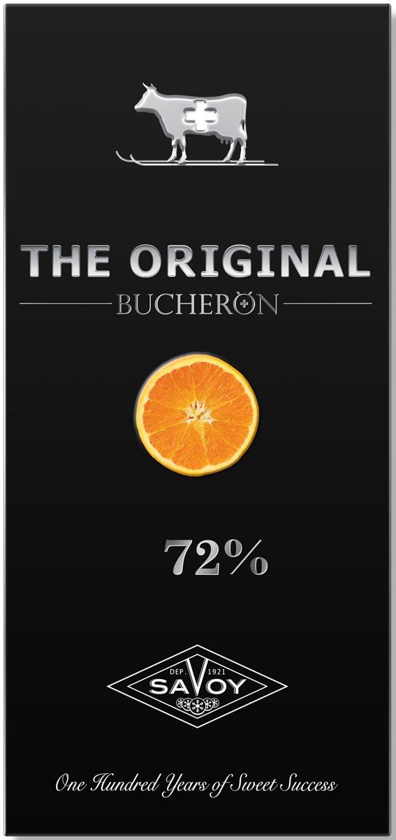 Шоколад горький Bucheron the Original, с кусочками апельсина, 100 г победа вкуса шоколад горький с кусочками апельсина 72% какао 100 г