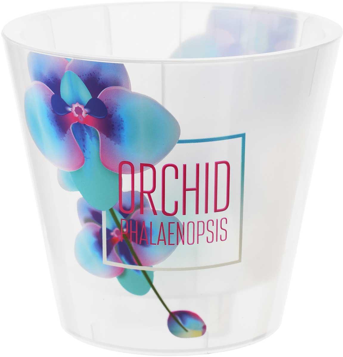 Горшок для цветов InGreen Фиджи Орхид Деко, цвет: бирюзовый, фиолетовый, 1,6 л поддон для балконного ящика ingreen цвет белый длина 60 см