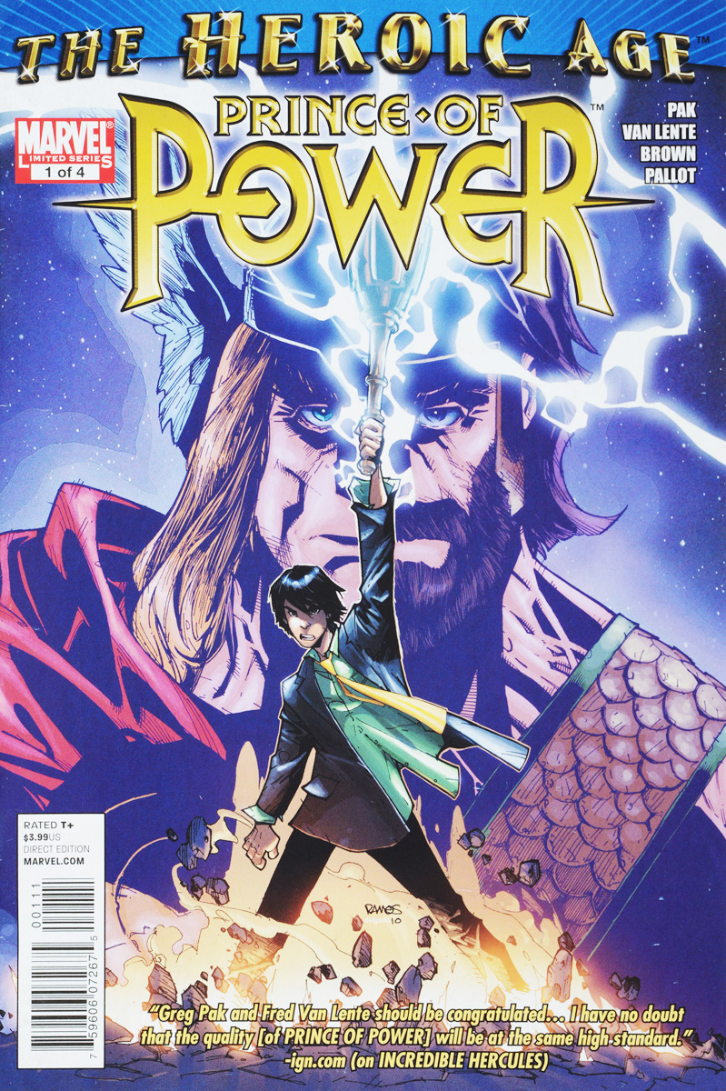 Pak, Lente, Brown The Heroic Age: Prince of Power №1
