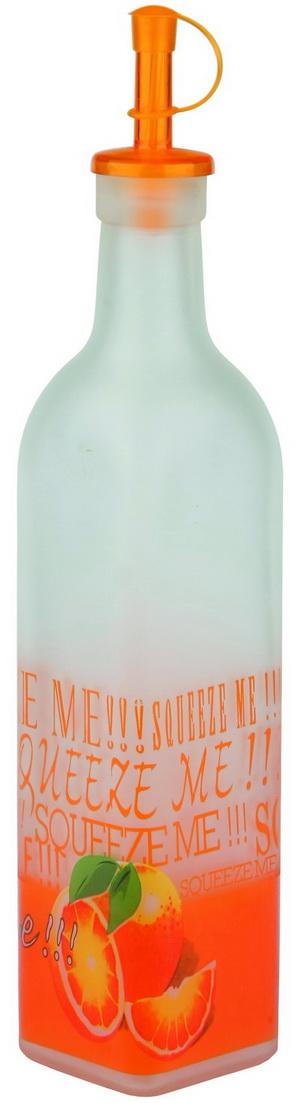 Бутылка для хранения масла Bohmann, с пробкой, цвет: белый, оранжевый, 0,5 л бутылка для сифонов oursson soda sparkle цвет прозрачный оранжевый 1 л