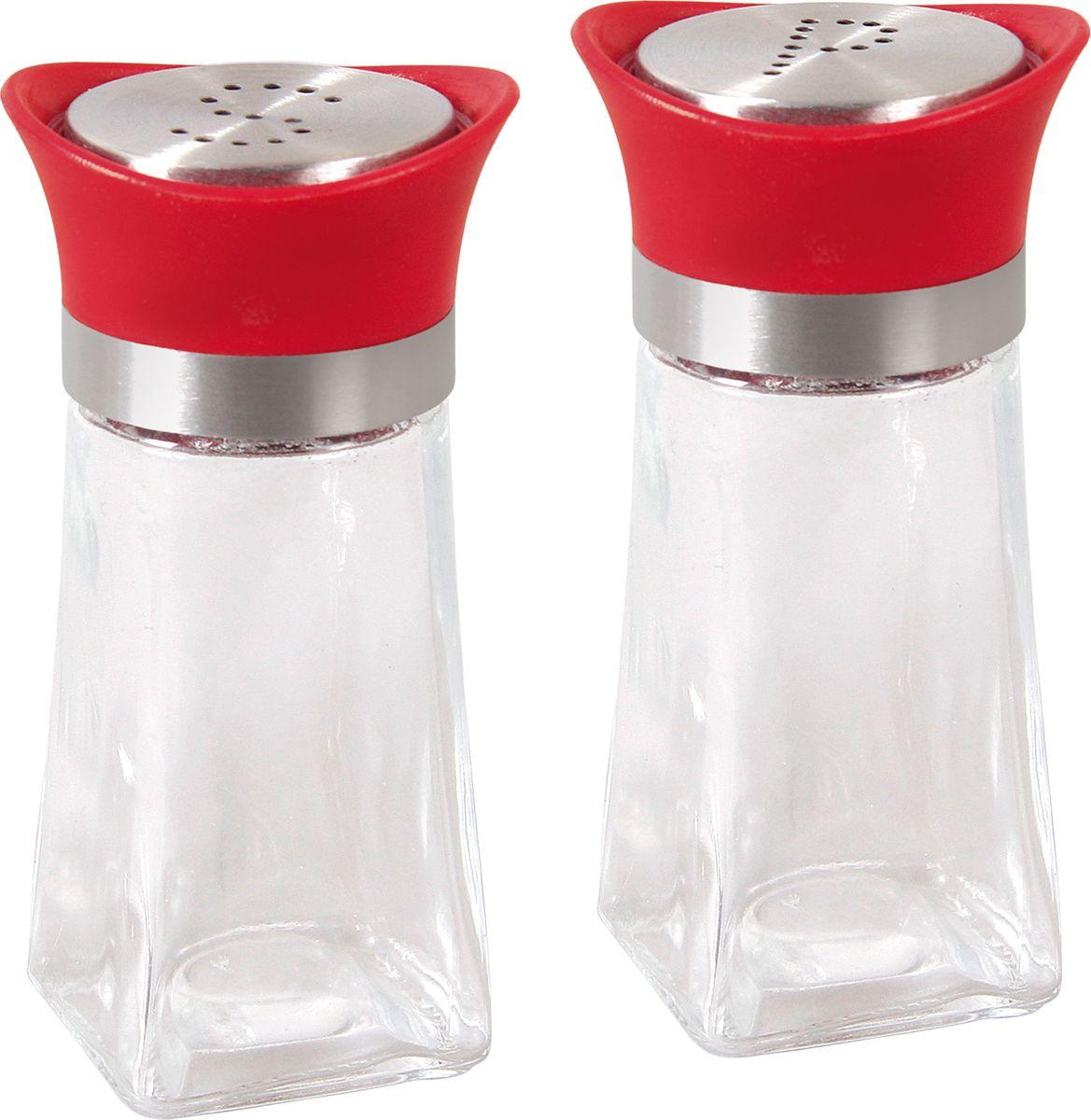 """Набор для специй """"Bohmann"""", цвет: прозрачный, красный, 2 предмета"""