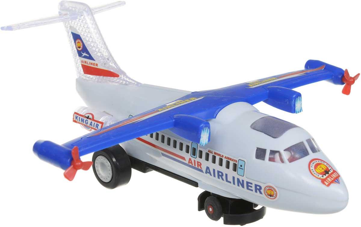 Zhorya Самолет пассажирский Юный пилот радиоуправляемый самолет abtoys со световыми и звуковыми эффектами 43х8х12 5 см c 00127