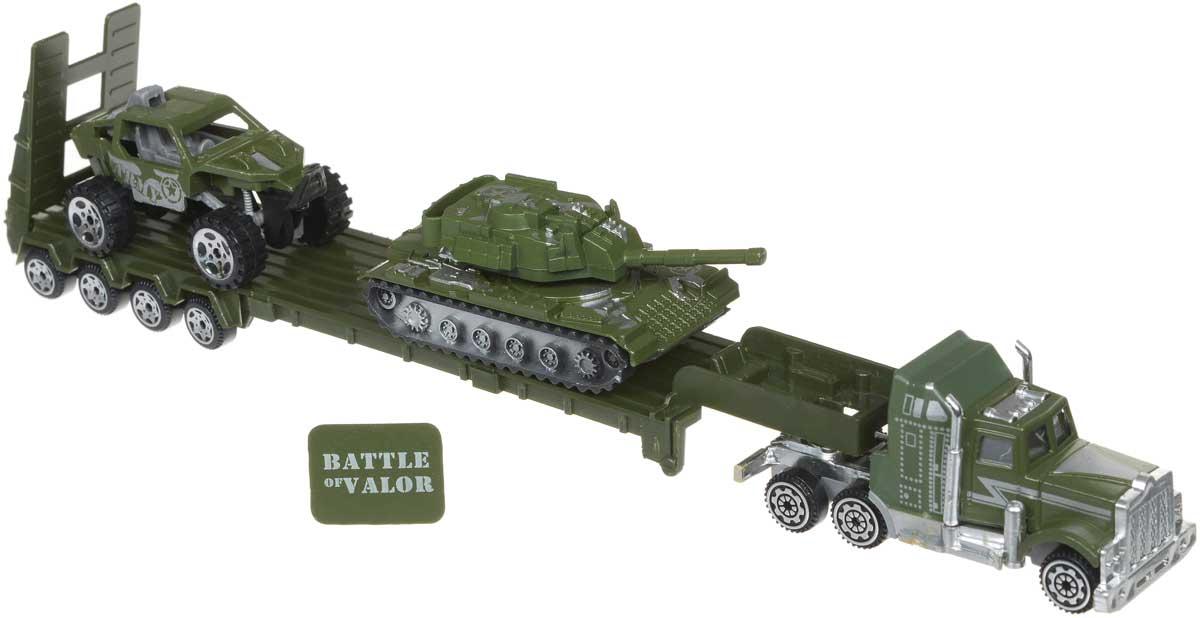 Zhorya Игровой набор Автомаркет Автовоз с танком и джипом
