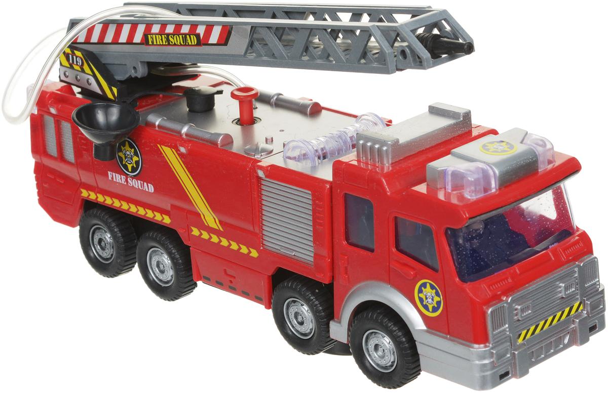 Zhorya Пожарная машина с лестницей и водяной пушкой zhorya набор машинок пожарная техника х75140