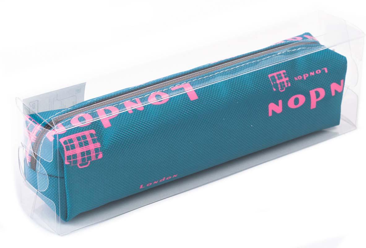 Calligrata Пенал школьный Лондон цвет синий 2873733 calligrata дневник школьный школа