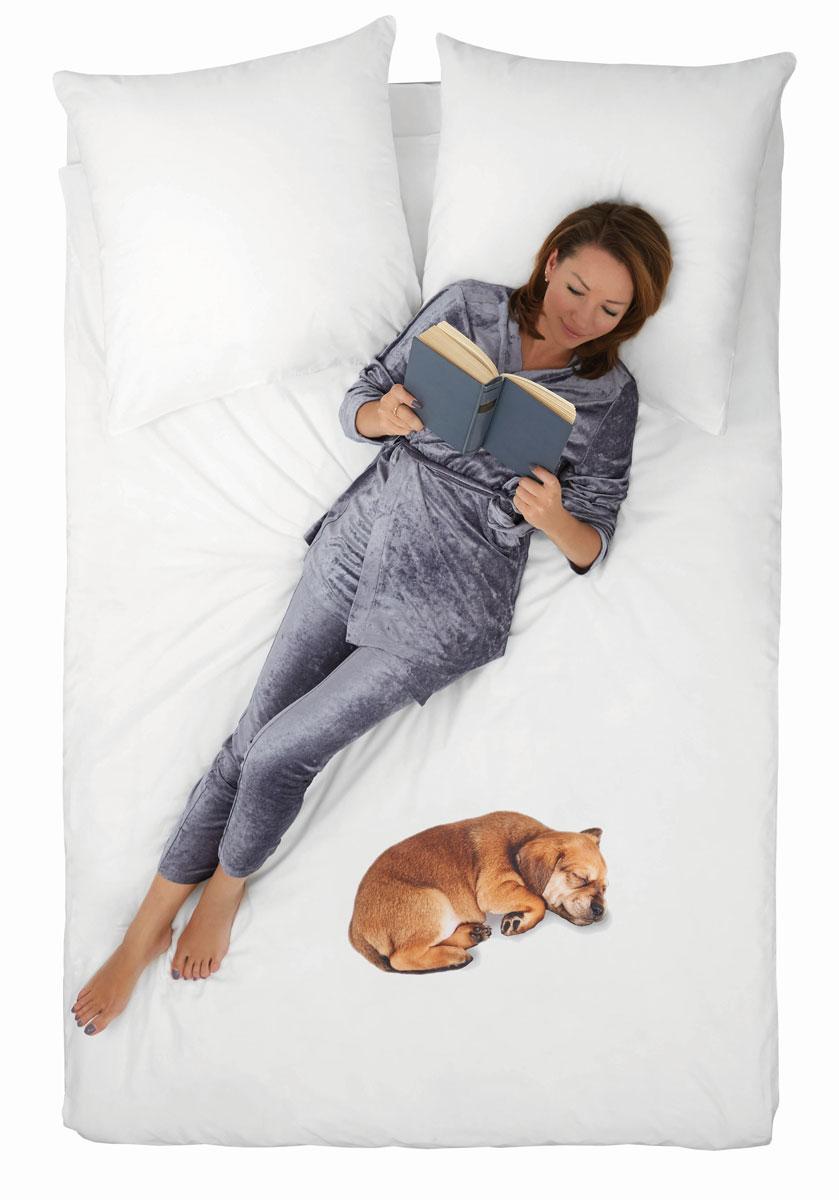 Комплект белья 4You Dog, 2-спальный, наволочки 50x70 цена