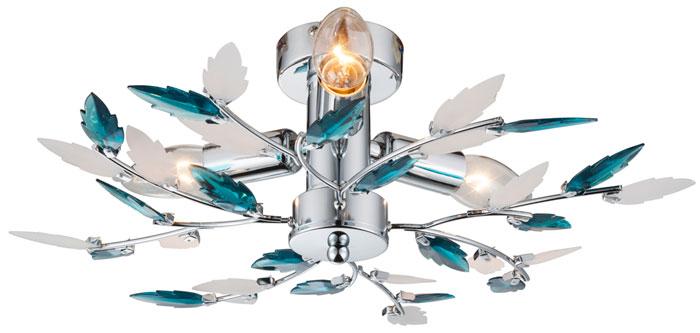Потолочный светильник Globo, E14, 120 Вт люстра потолочная экономсвет 5х40вт e14 хром
