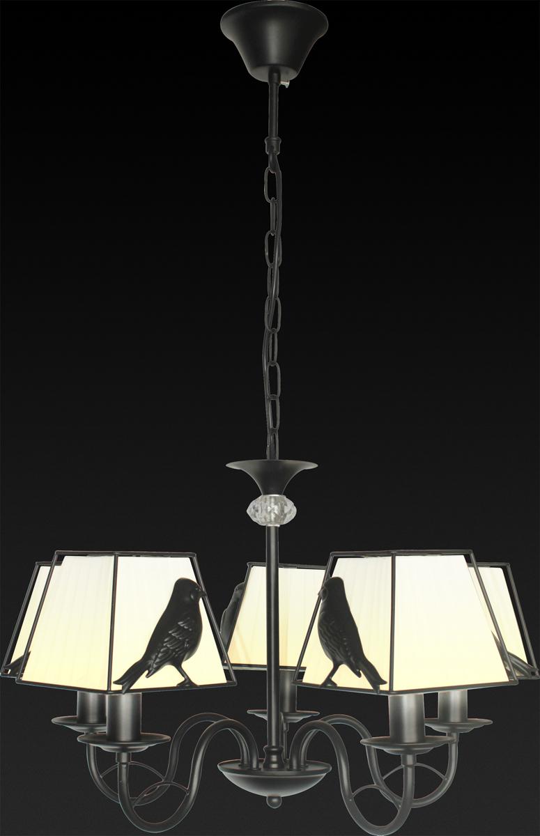 Люстра подвесная Toplight Donna. TL7510D-05BLTL7510D-05BLЛюстра подвесная DONNA TL7510D-05BL TOPLIGHT, черный, E14, 5x40W