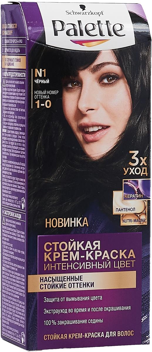 Palette Стойкая крем-краска N1 Чёрный 110 мл цена