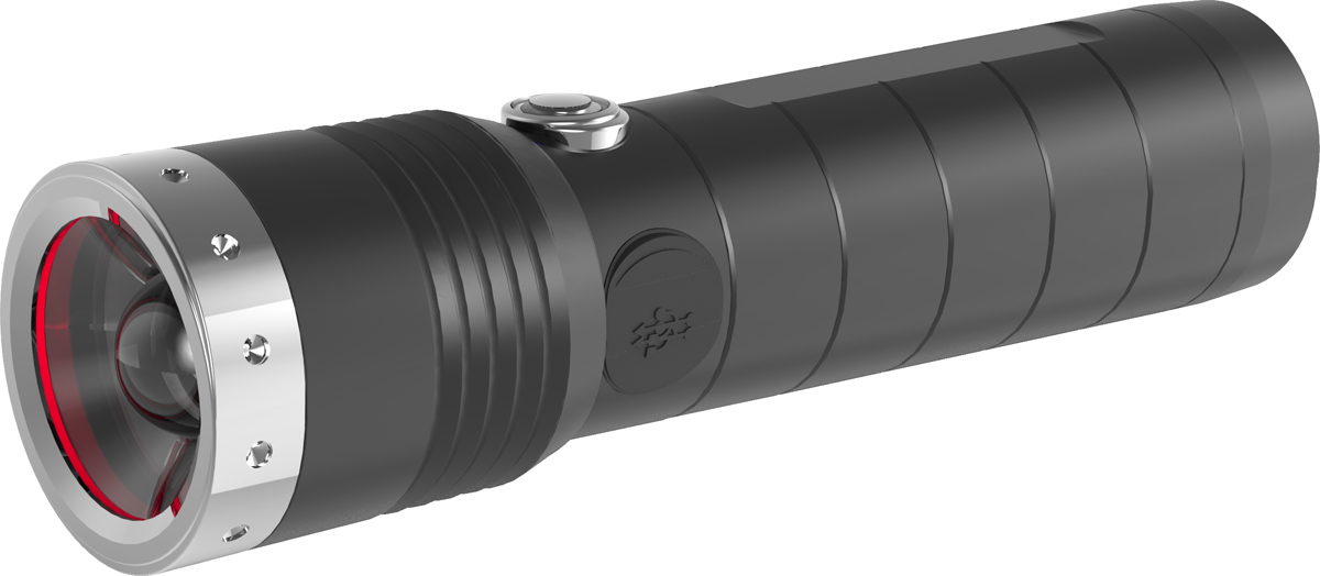 Фонарь LED Lenser MT14, с аккумулятором, цвет: черный. 500844