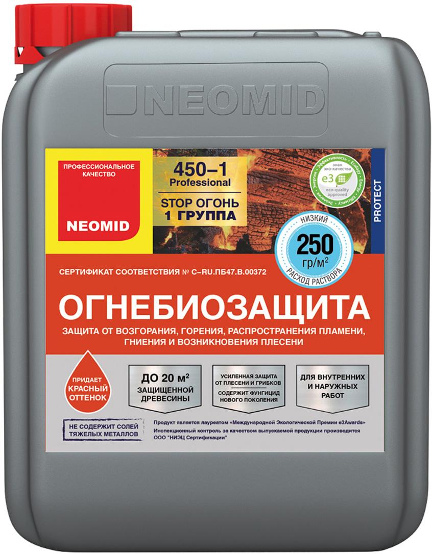 цена на Тонированный- огнебиозащитный состав Neomid Professional 450 - I группа, 5 кг