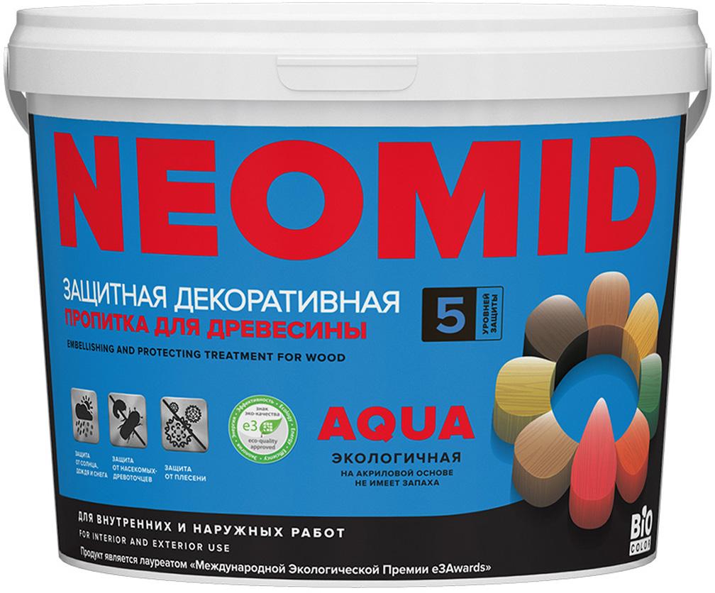цена на Состав деревозащитный Neomid Bio Color Aqua New 2014, на акриловой основе, цвет: светлый дуб, 2,3 л