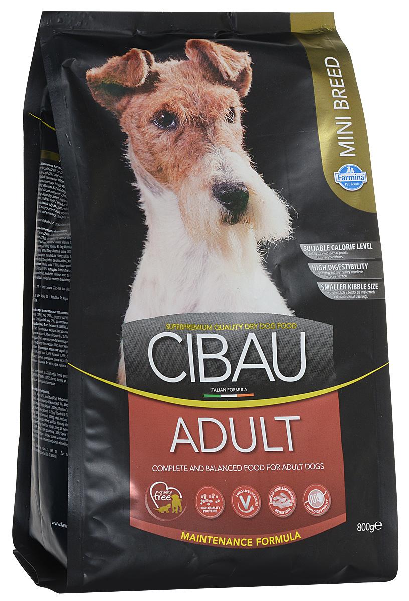 """Корм сухой Cibau """"Adult"""", для взрослых собак мелких пород, 800 г"""