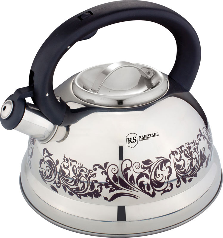 Чайник Rainstahl, со свистком, цвет: белый, 2,7 л. 7642-27RS\WK чайник rainstahl со свистком цвет белый 2 7 л 7642 27rs wk