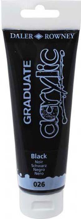 Daler Rowney Краска акриловая Graduate цвет черный 120 мл